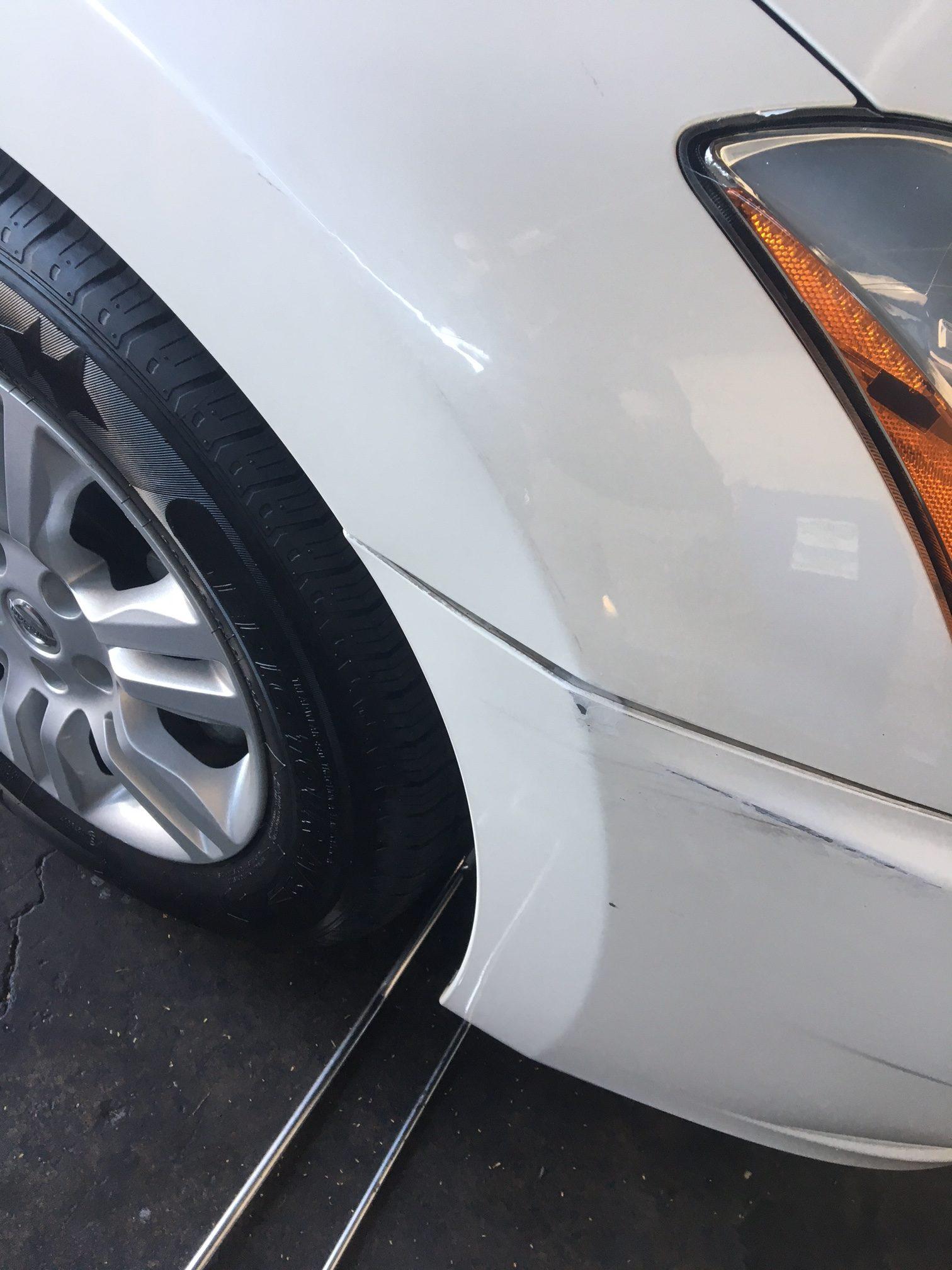 Las Vegas Fender Dent Removal After
