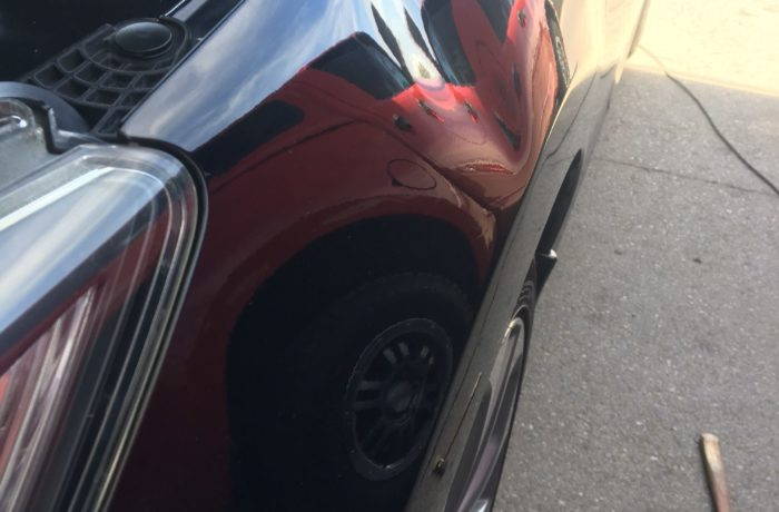 Las Vegas Fender Dent Repair Before