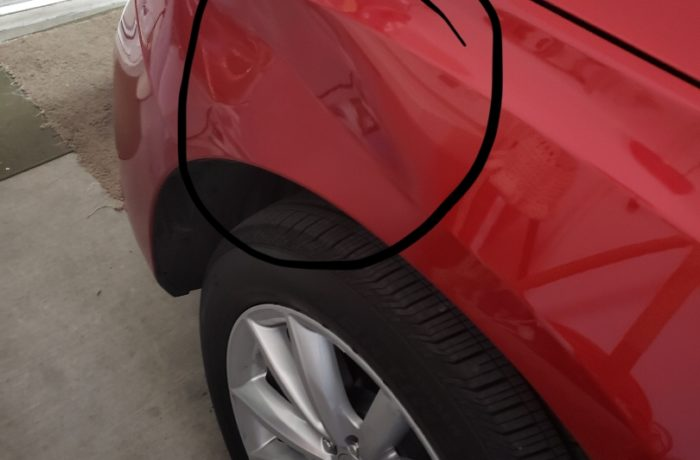 Acura RDX Dent Removal Before