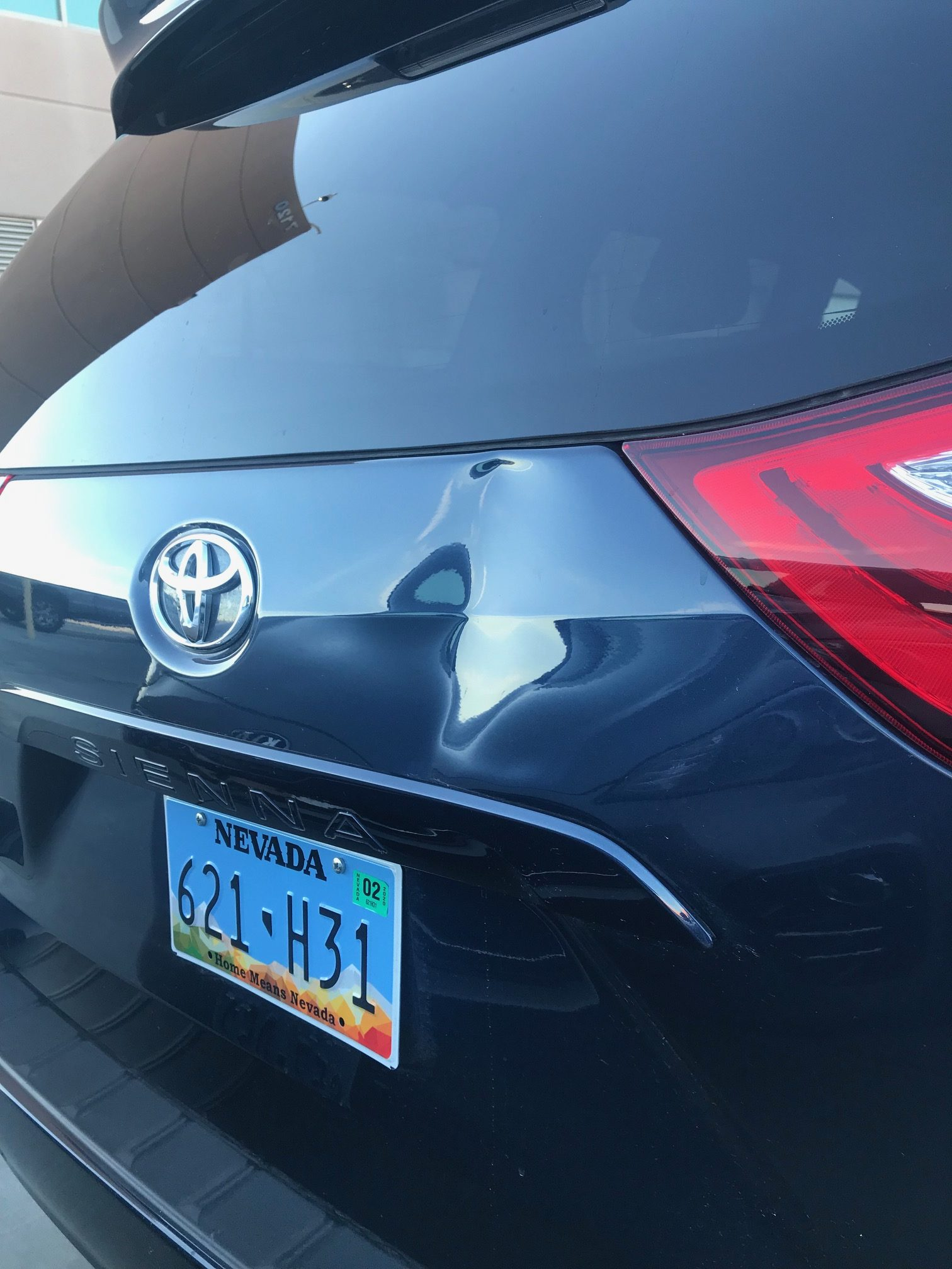 Toyota Sienna Dent Removal Before